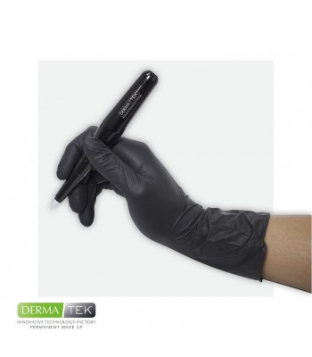 Disposable black gloves - M...